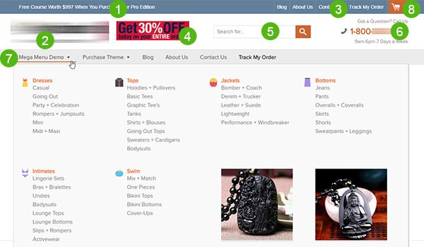 SHOPTIMIZED THEME HEADER