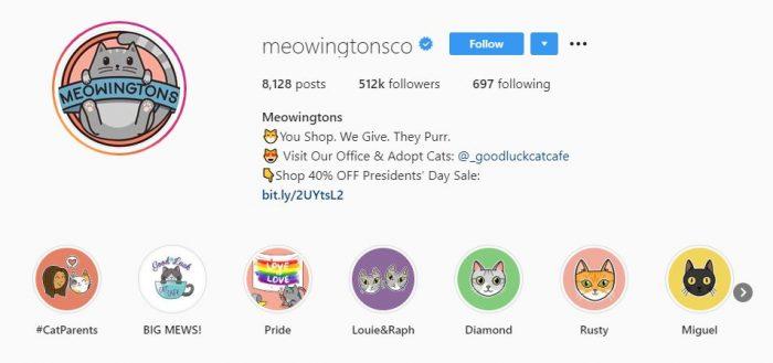Meowingtons instagram