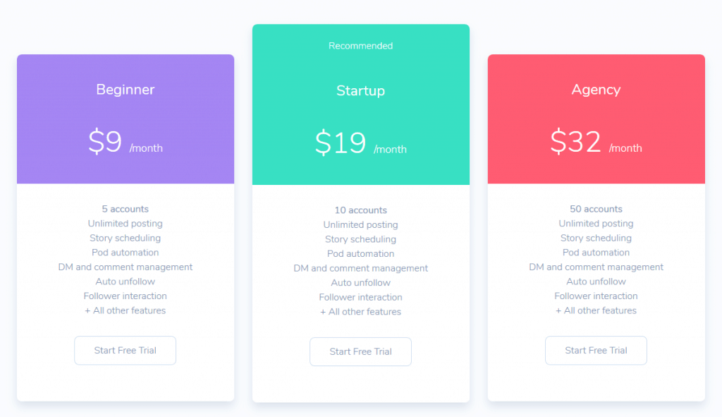 FollowPlanner Pricing